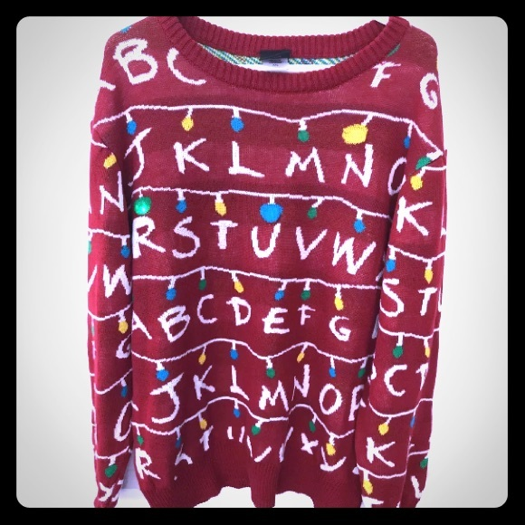Sweaters Stranger Things Light Up Christmas Sweater Xxl Poshmark